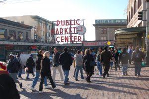 Pike Place Market Pedestrians